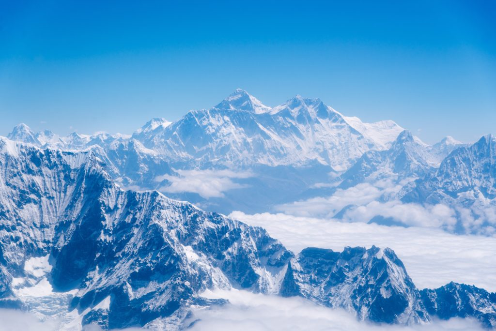 Mount Everest was a formidable objective for high-flying aircraft