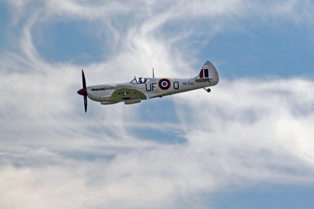 Spitfire at high altitude